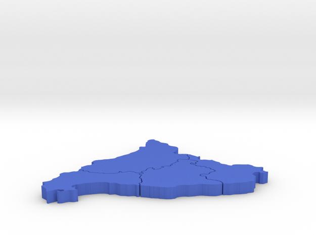 I3D CATALUÑA:Barcelona,Tarragona,Girona and Lleida in Blue Processed Versatile Plastic