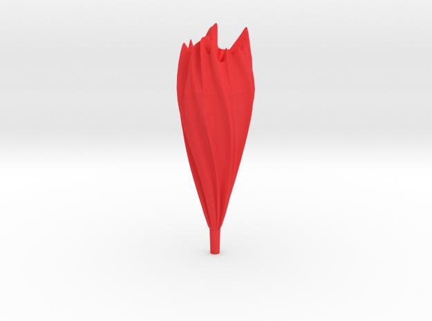 Flame in Red Processed Versatile Plastic
