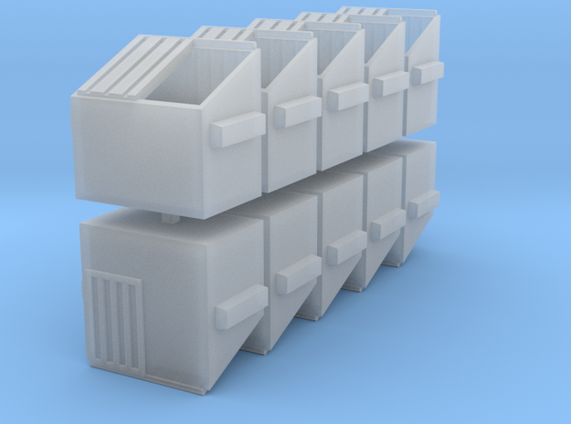 Dumpster - set of 10 - Nscale in Smooth Fine Detail Plastic