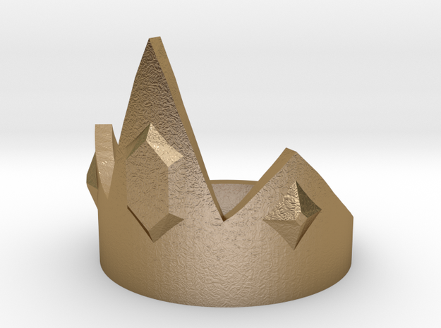 Ice King Crown - Size 12 in Polished Gold Steel