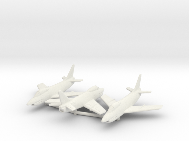 1:144 FIAT G.91 Triple pack in White Natural Versatile Plastic