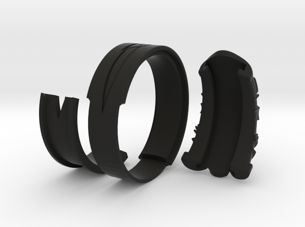 Vambrace Ring 11.5 in Black Natural Versatile Plastic