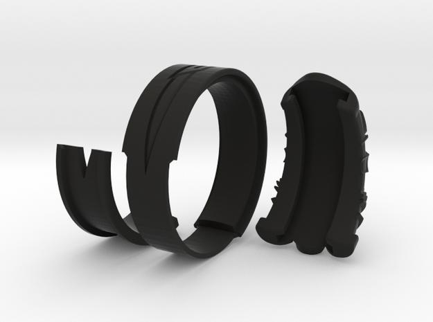 Vambrace Ring 10.5 in Black Natural Versatile Plastic
