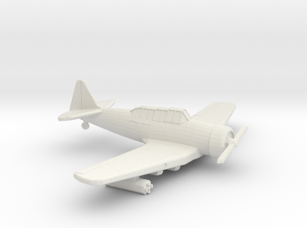 1:144 T6 TEXAN MATRA SNEB 37mm ROCKET  in White Natural Versatile Plastic