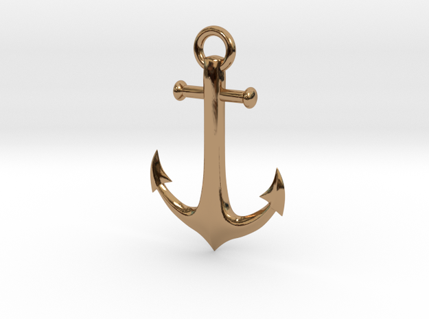 Anchor Necklace 3d printed