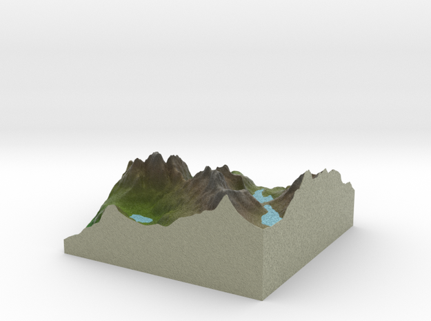 Terrafab generated model Tue Jan 19 2016 23:10:26  in Full Color Sandstone