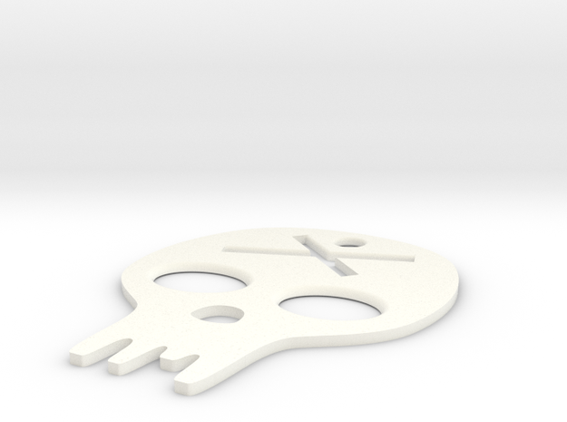 made with love - graphic  skull in White Strong & Flexible Polished