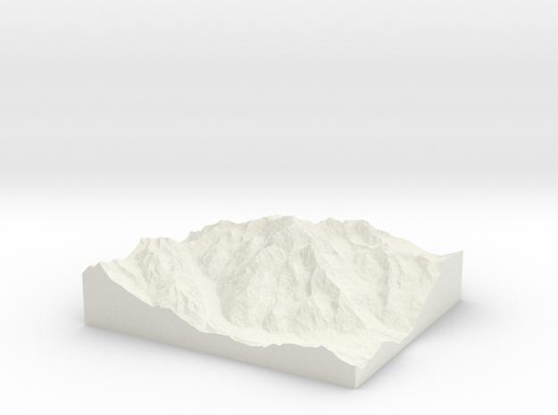 Model of Mont Blanc   Pic Louis Amedée in White Natural Versatile Plastic