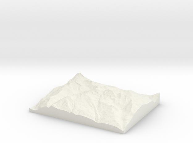 Model of Aosta in White Natural Versatile Plastic