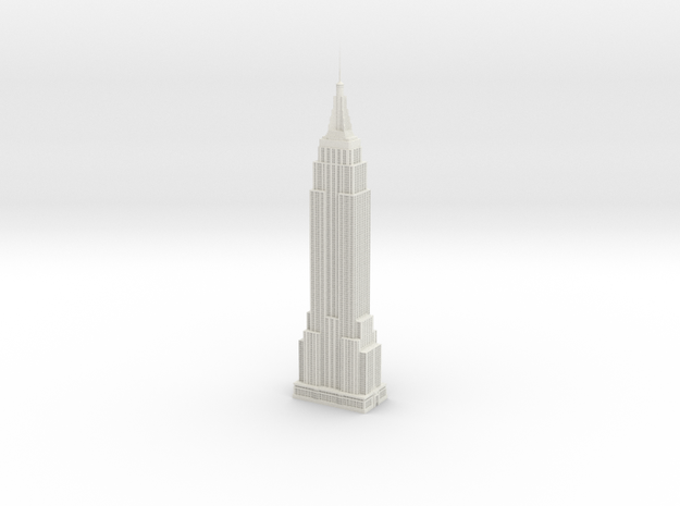 Empire State Building in White Natural Versatile Plastic