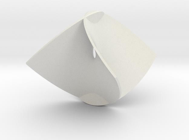 Enneper Minimal Surface in White Natural Versatile Plastic