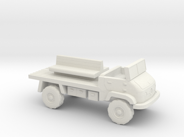 1:144 MERCEDES BENZ UNIMOG 404S troop carrier in White Natural Versatile Plastic