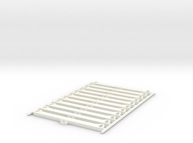 F1 Tie Rod Set in White Processed Versatile Plastic