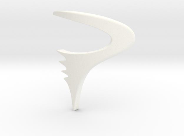 Logo Pinarello  - height 50mm in White Processed Versatile Plastic