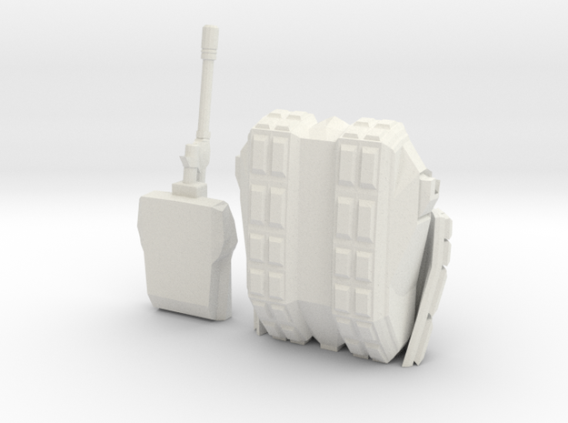 Tank 2 Printable in White Natural Versatile Plastic