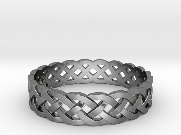 Rohkea Bold Celtic Knot Size 12 in Fine Detail Polished Silver