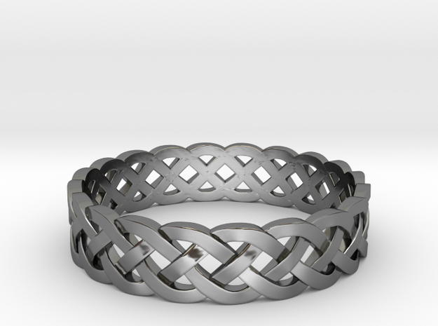 Rohkea Bold Celtic Knot Size 9 in Fine Detail Polished Silver