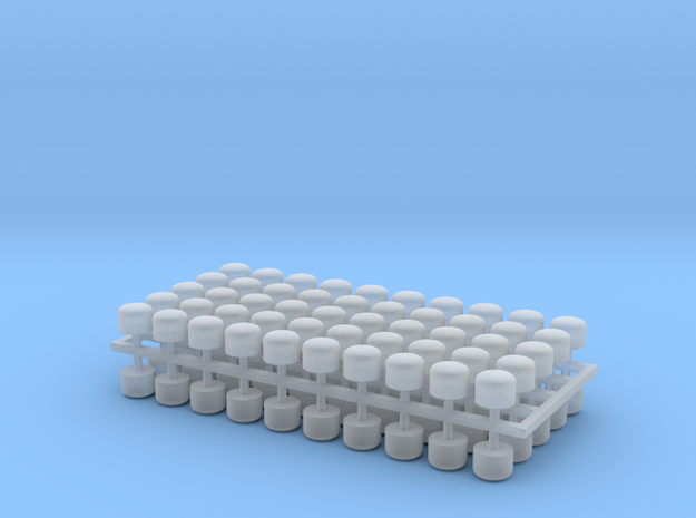 2mm Scale Vacuum Cylinders in Smooth Fine Detail Plastic