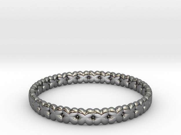 Clover Bracelet A in Fine Detail Polished Silver