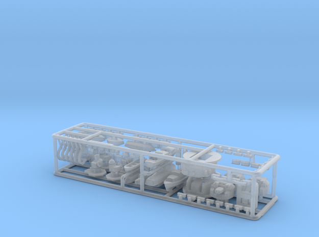 HMS Lion detail kit. 1/700 scale for Matchbox, Rev in Smooth Fine Detail Plastic