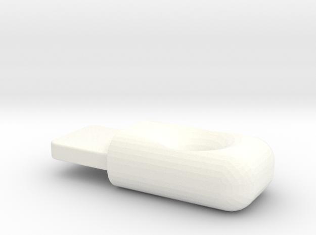 Lightning Cap in White Processed Versatile Plastic