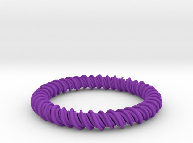 GW3Dfeatures Bracelet A2 in Purple Strong & Flexible Polished