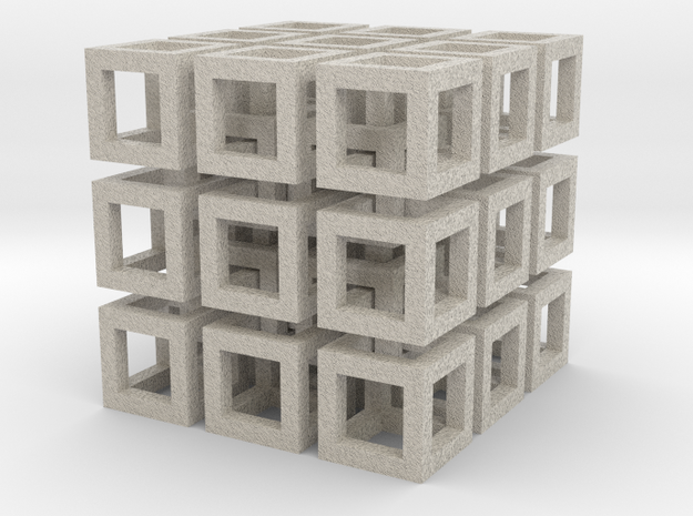 Cubo in Natural Sandstone