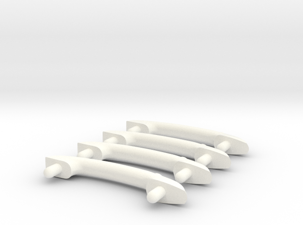 Scale Helicopter Handle C32mm in White Strong & Flexible Polished