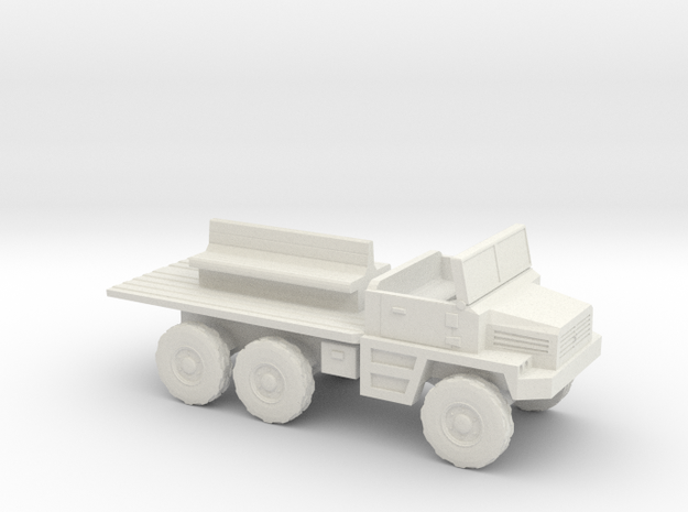 1:144 Berliet Gazelle GBC 8 in White Natural Versatile Plastic