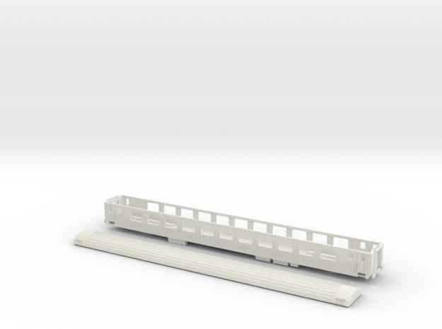 SBB Bpm 51 - TT scale in White Natural Versatile Plastic