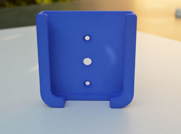 Moto E Car Mount in Blue Strong & Flexible Polished