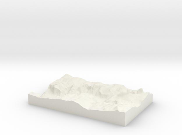 Model of Yosemite Village in White Natural Versatile Plastic