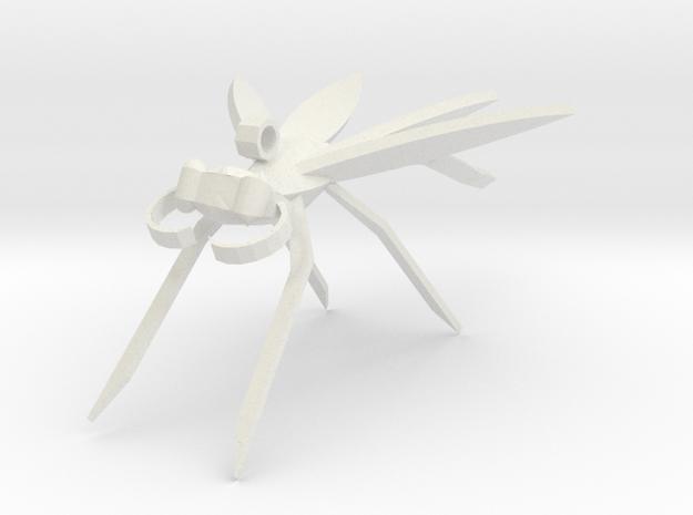 Dragonfly Earring in White Natural Versatile Plastic