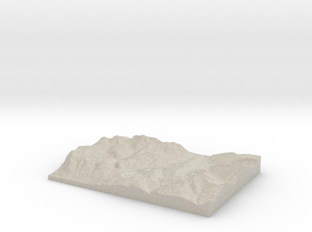 Model of Les Gets 3d printed