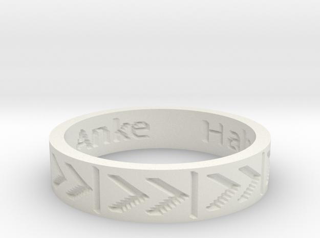 by kelecrea, engraved: Hab dich total lieb, Anke 3d printed