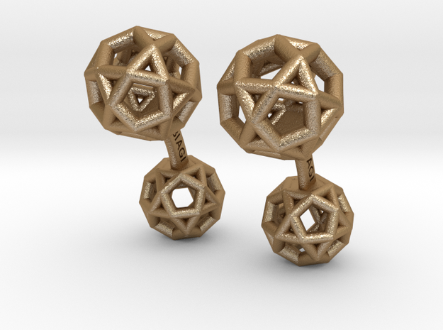 DodecaedroCufflinks 3d printed