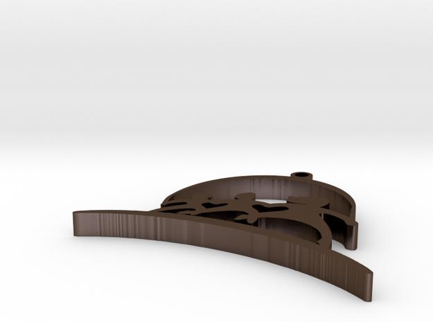 New Horizons Pendant in Polished Bronze Steel