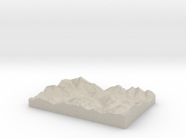 Model of Andermatt 3d printed