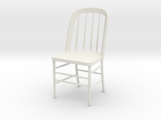 "Eustis Edison Chair Miniature 4"" tall in White Natural Versatile Plastic"