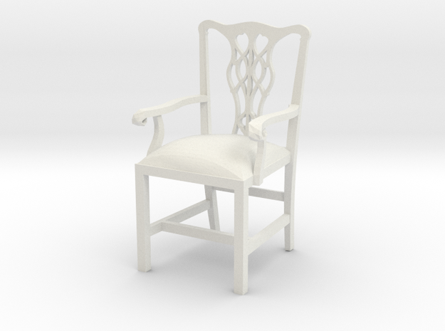 "Cambridge Councill Arm Chair 3"" tall in White Natural Versatile Plastic"