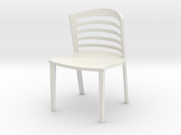 "Lowenstein Chair 3.8"" tall in White Natural Versatile Plastic"