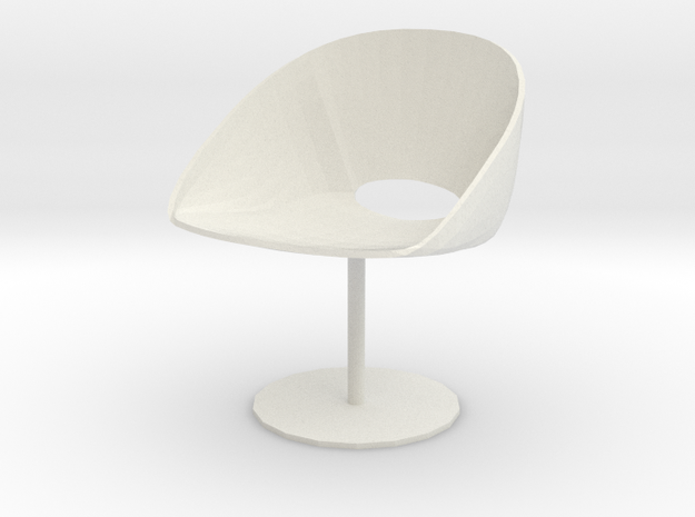 "Davis Lipse Seating Pedestal base 3.7"" tall in White Strong & Flexible"
