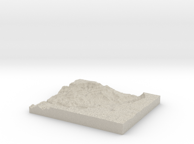 Model of Colorado RIver 3d printed