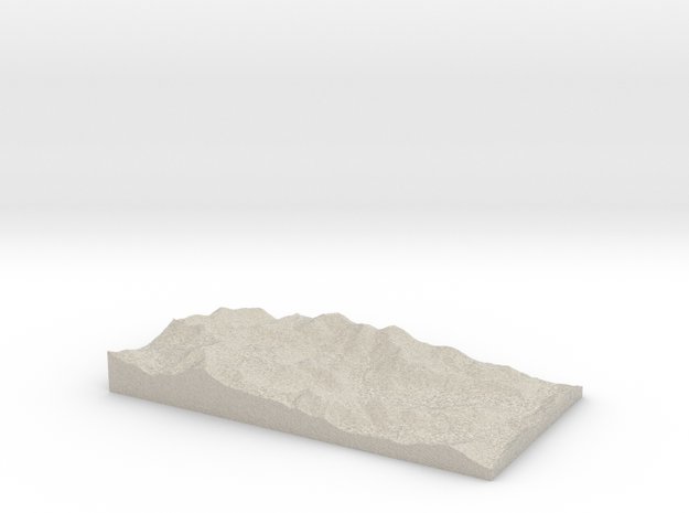 Model of Alpine Meadows 3d printed