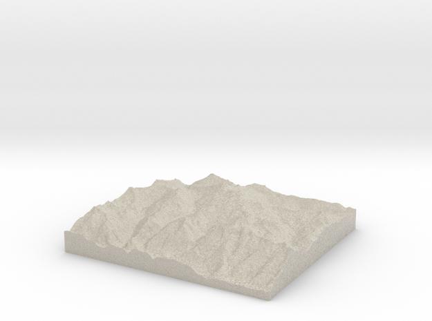 Model of Schlatenkees 3d printed