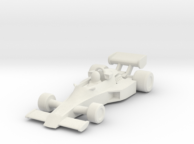 Lotus 77 HO scale in White Strong & Flexible