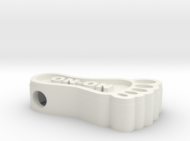 Hashfoot Hollow Bead in White Strong & Flexible