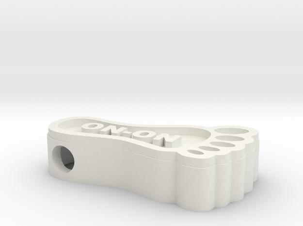 Hashfoot Hollow Bead in White Natural Versatile Plastic