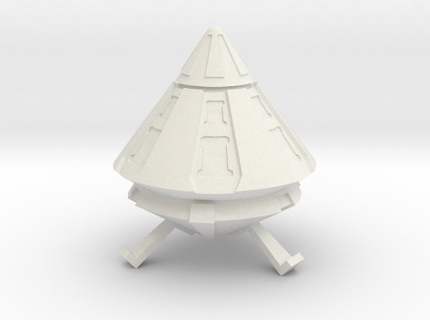 Spacer1999 Alien Trader Ship in White Natural Versatile Plastic