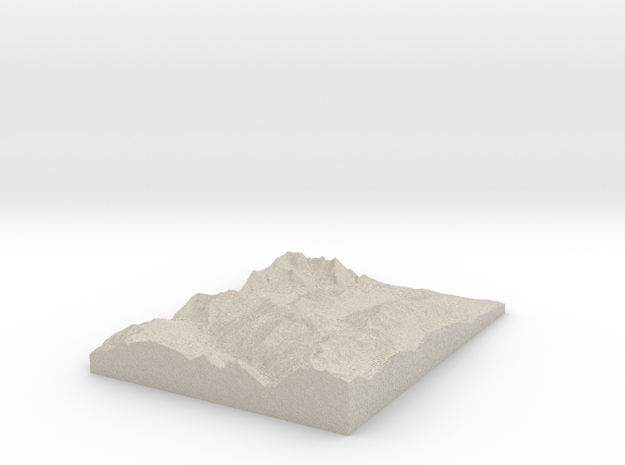 Model of Siviez 3d printed